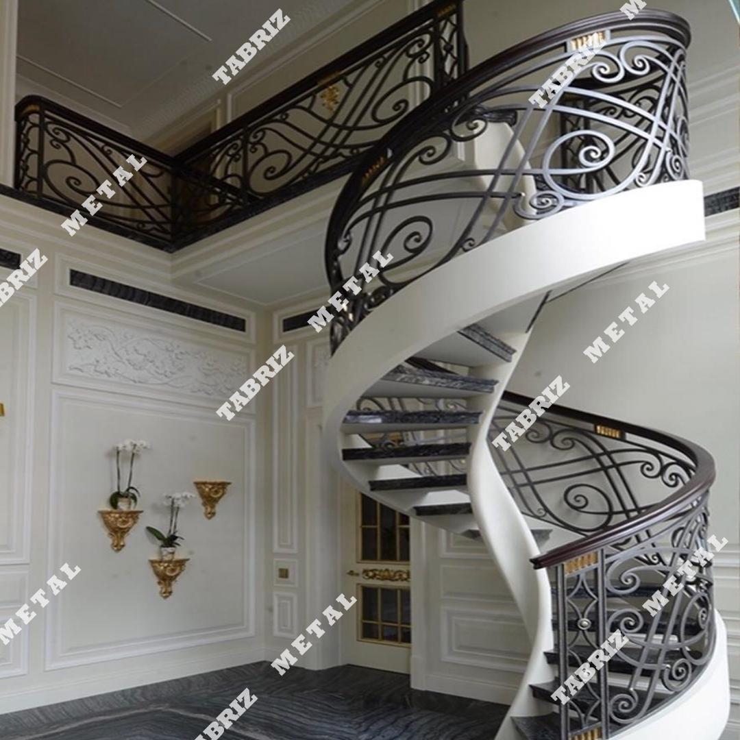 پله دوبلکس و نرده دستساز