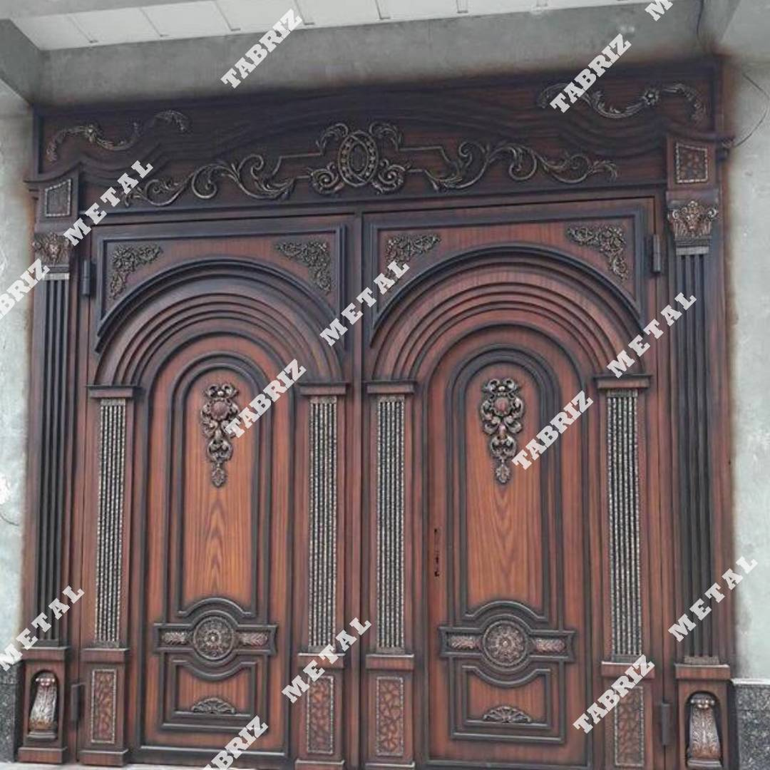 درب فلزی طرح چوب